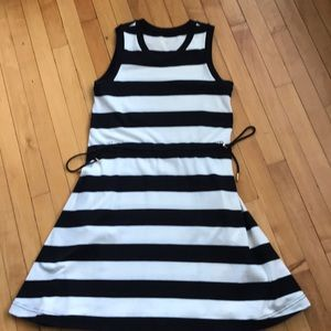 Kate spade striped drawstring dress